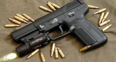 Flashlight Mounted Handguns